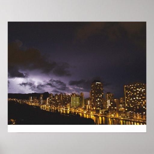 Waikiki Lightning Poster