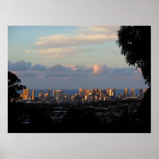 Waikiki Morning Poster