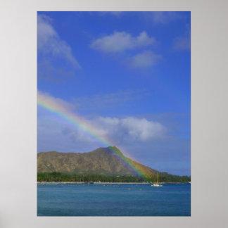 Waikiki Rainbow Poster