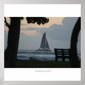 Waikiki Sailing Poster