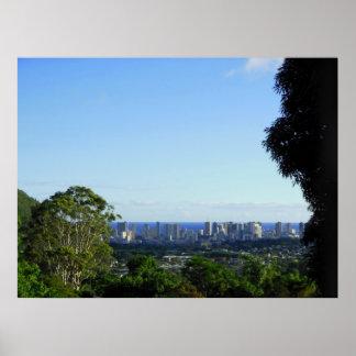 Waikiki Skyline Poster