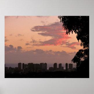 Waikiki Sunset Poster