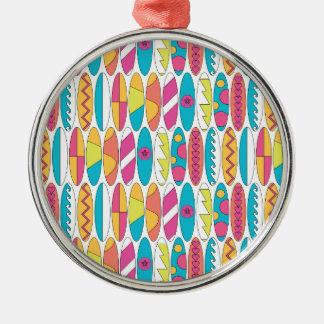 Waikiki Surfboards Silver-Colored Round Decoration
