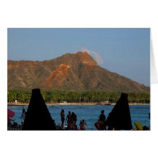 Waikiki Tiki Torches Card