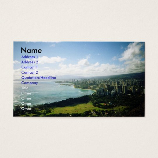 Waikiki view business card