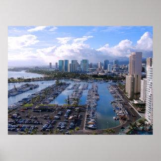 Waikiki Yacht Harbour Poster