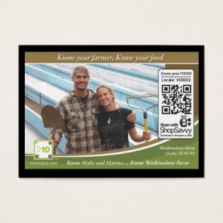 Waikinalani Farm Traceable Shelftalker Business Card