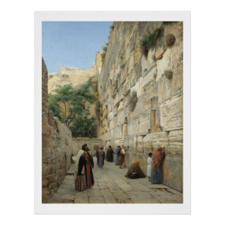 Wailing Wall by Gustav Bauernfeind Poster