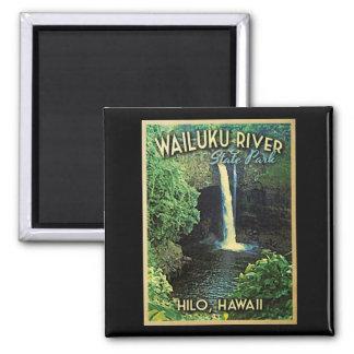 Wailuku State Park Hawaii Square Magnet