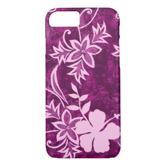 Waimanalo Hawaiian Hibiscus Batik iPhone 7 Case