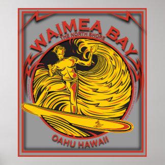 WAIMEA BAY NORTH SHORE HAWAII SURFING PRINT
