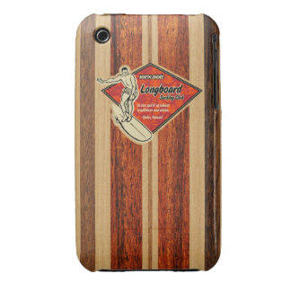 Waimea Surfboard Hawaiian Barely There Case-Mate iPhone 3 Cases