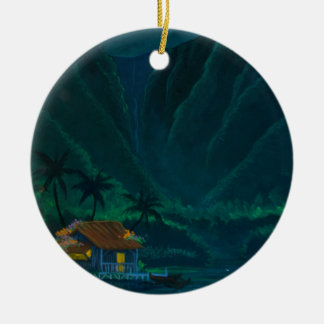 Wainiha Valley Home on a Starry Night Christmas Ornament