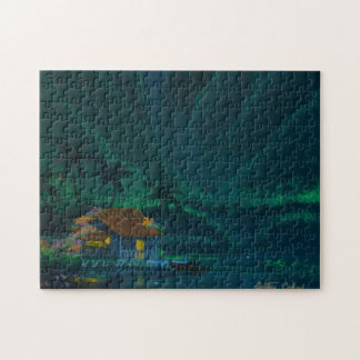 Wainiha Valley Home on a Starry Night Jigsaw Puzzle