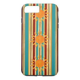 Waipahu Pipeline Striped Hawaiin Surfboard iPhone 8 Plus/7 Plus Case