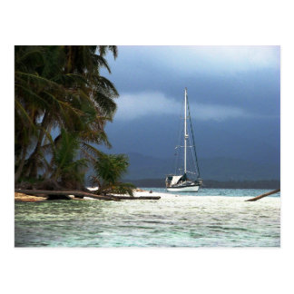 Waisaladup (Green) Island, Kuna Yala, Panama Postcard