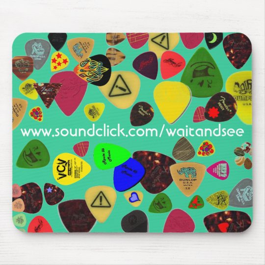 WAIT AND SEE guitar pick mousepad