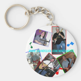 WAIT AND SEE web site key chain