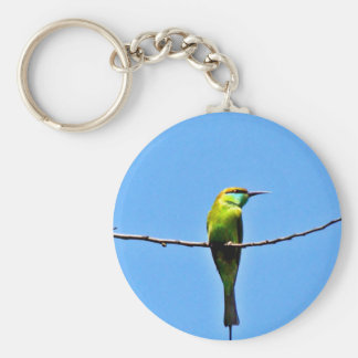 wait for love small green bee-eater bird key chains