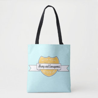 Wait for the Lord Scripture Tote Bag