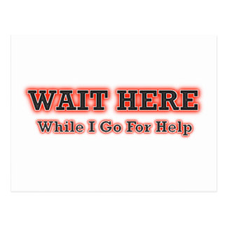Wait Here While I Go For Help Postcard