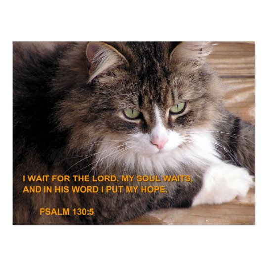 WAIT ON THE LORD POSTCARD