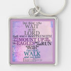 Wait on the Lord Scripture Isaiah 40:31 Keychain