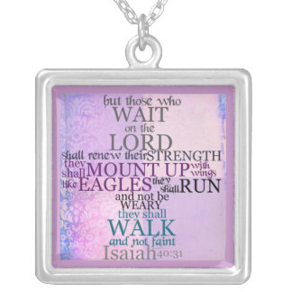 Wait on the Lord Scripture Isaiah 40:31 Necklace