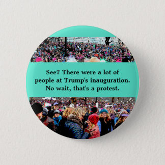 Wait that's a protest 6 cm round badge