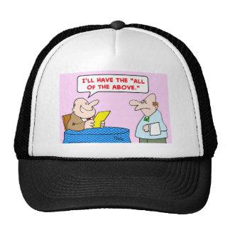 waiter all of the above mesh hats