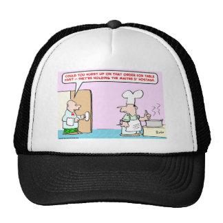 waiter maitre d' hostage hat