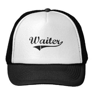 Waiter Professional Job Mesh Hats