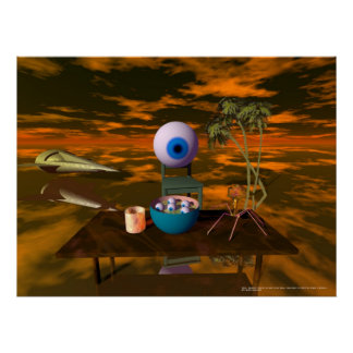 Waiter!! There's an eye in my soup... Poster