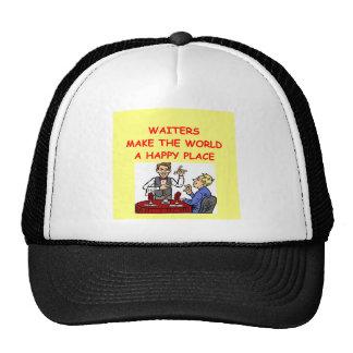 waiters mesh hat