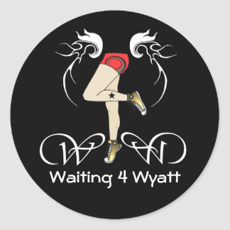 Waiting 4 Wyatt Legs Sticker