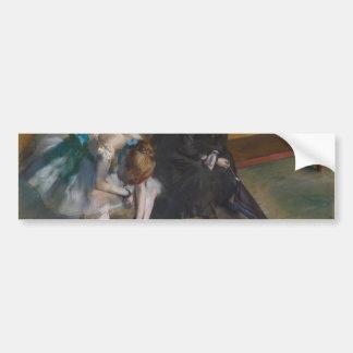 Waiting by Edgar Degas Bumper Sticker
