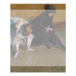 Waiting by Edgar Degas 11.5 Cm X 14 Cm Flyer