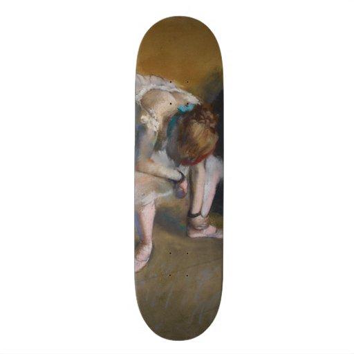 Waiting by Edgar Degas Skateboard Deck