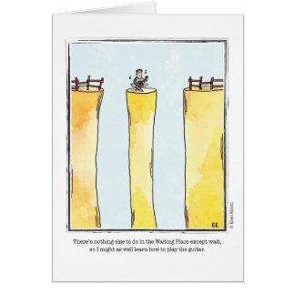 WAITING cartoon by Ellen Elliott Greeting Card