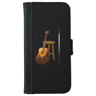 Waiting Encore Guitar Stool and Mike iPhone 6 Wallet Case