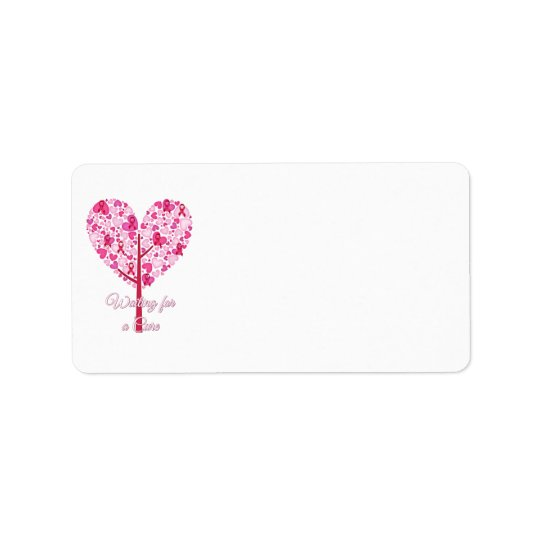 Waiting for A Cure Breast Cancer Pink Ribbon Tree Address Label