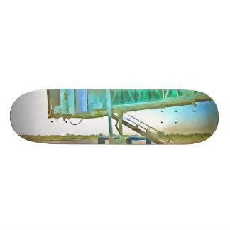Waiting for a plane 20 cm skateboard deck
