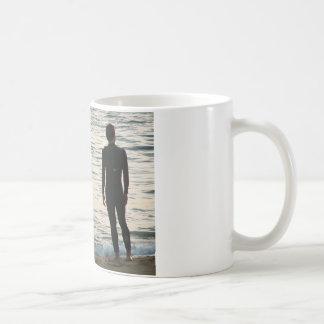 waiting for a wave basic white mug