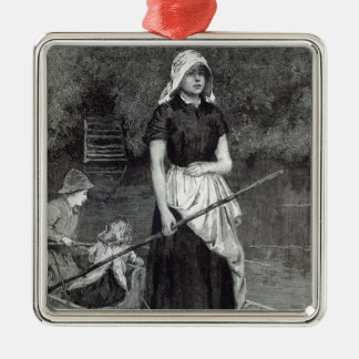 Waiting for Father, from 'Leisure Hour', 1888 Christmas Ornament