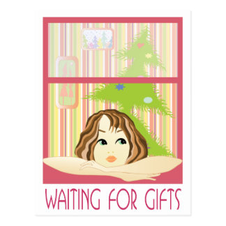 Waiting for gifts post card