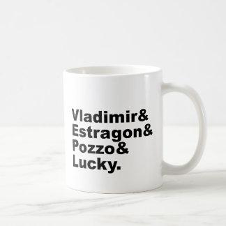 Waiting for Godot - Vladimir Estragon Pozzo Lucky Basic White Mug