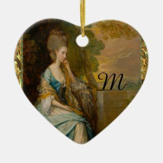 Waiting for Him Monogram Ceramic Heart Decoration