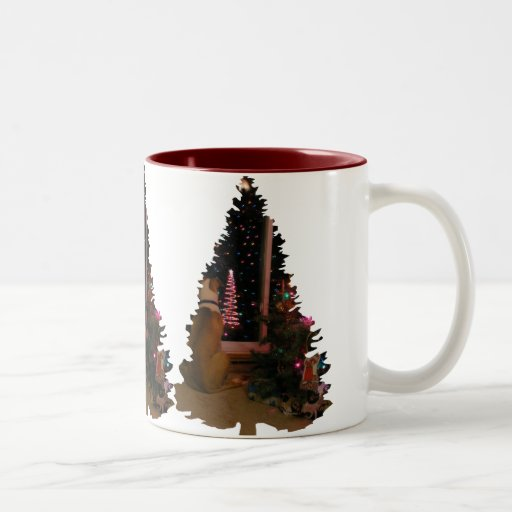 Waiting for Santa By The Tree Mugs