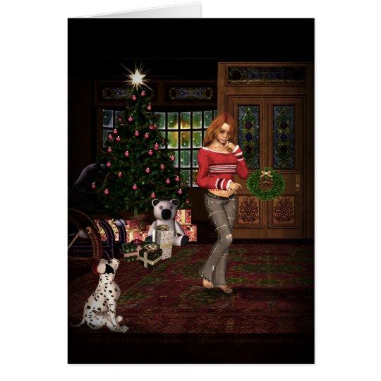 Waiting For Santa Christmas Card