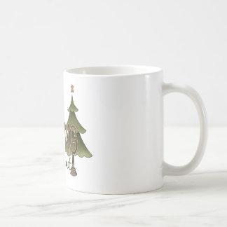 Waiting For Santa Christmas Tree Design Coffee Mugs